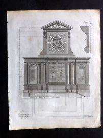 Langley 1777 Antique Architectural Print. Altar Piece 111